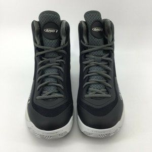 AND1 Mens Reaper Basketball Shoes Black Gray 7.5